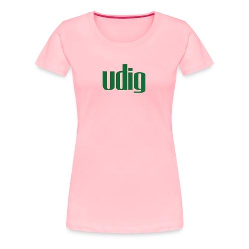 Udig Women's Pink and Green - Women's Premium T-Shirt