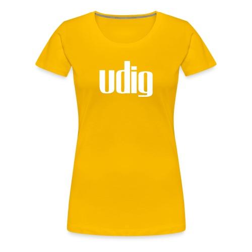 Udig Women's Yellow - Women's Premium T-Shirt