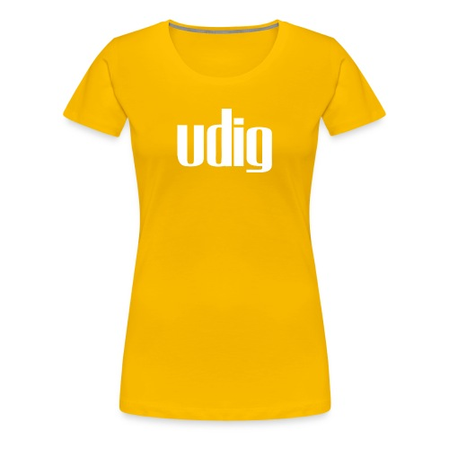 Udig Women's Yellow - Women's Premium T-Shirt