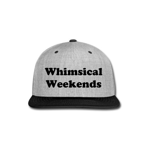 Whimsical Weekends Snap-Back Hat - Snap-back Baseball Cap
