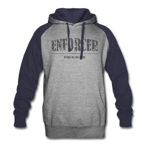 Enforcer-Living by the Code-Colorblock Hoodie - Colorblock Hoodie