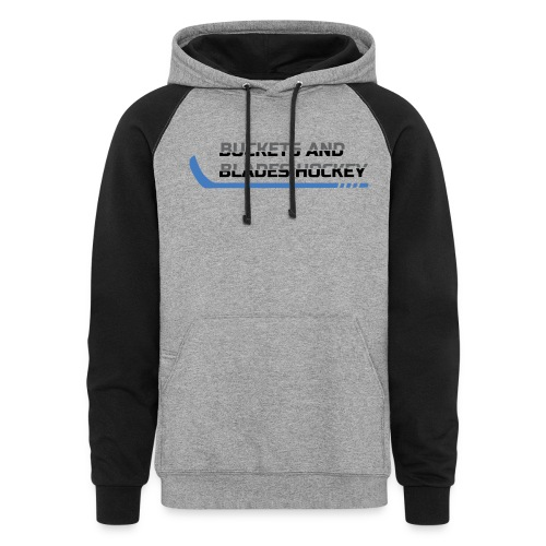 Buckets and Blades Hockey-Colorblock Hoodie - Colorblock Hoodie