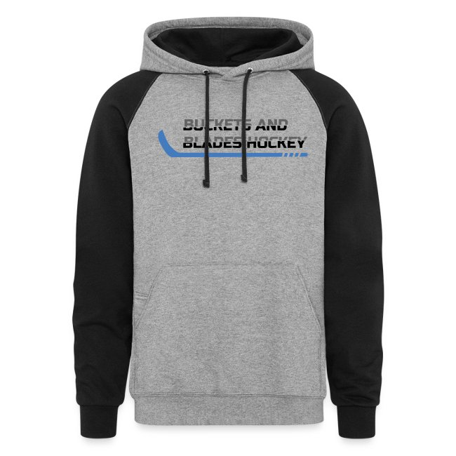 Buckets and Blades Hockey-Colorblock Hoodie