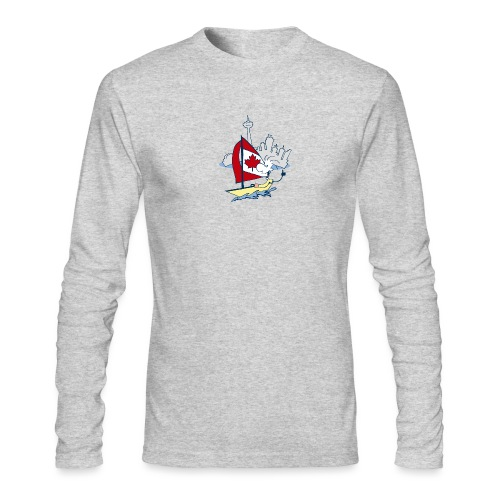 Mens Funny Sailing in Toronto Full Sleeve Shirt - Men's Long Sleeve T-Shirt by Next Level