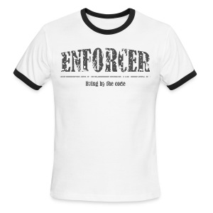 Enforcer-Living by the Code-Men's Ringer Tee - Men's Ringer T-Shirt