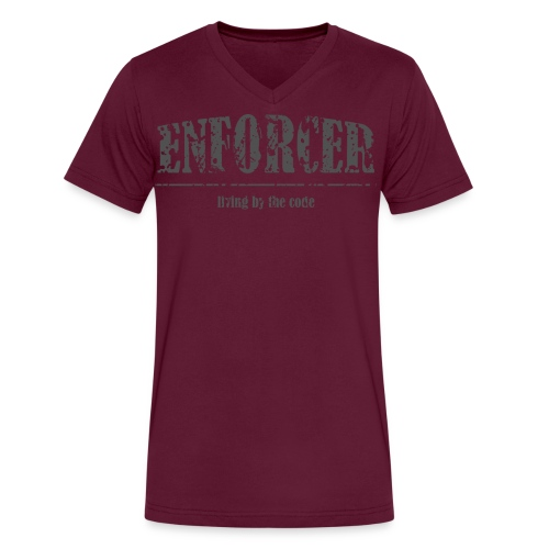 Enforcer-Living by the Code-Men's V-Neck Tee - Men's V-Neck T-Shirt by Canvas