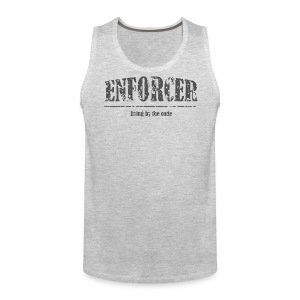 Enforcer-Living by the Code-Men's Tank - Men's Premium Tank