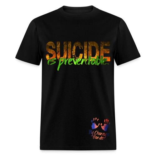 Men's Suicide is preventable. - Men's T-Shirt