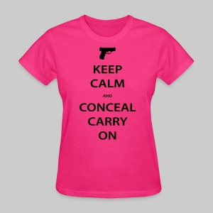 Women's Keep Calm Conceal Carry, Black - Women's T-Shirt