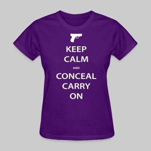Women's Keep Calm Conceal Carry, White - Women's T-Shirt