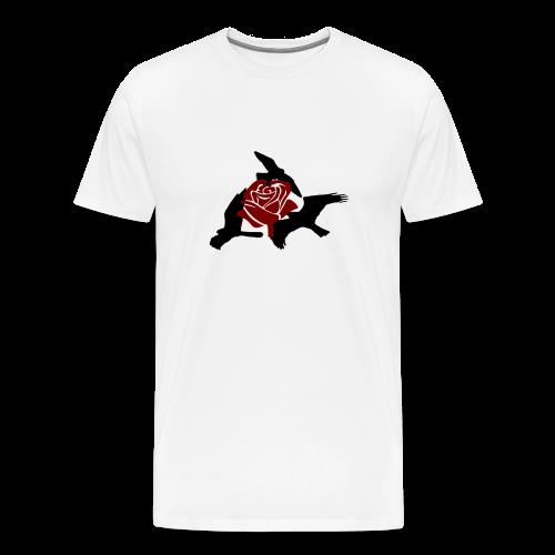 Rose birds T-Shirt (BLACK PRINT) - NEKLEY`s special - Men's Premium T-Shirt