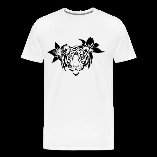 Lotus tiger T-Shirt (BLACK PRINT) - NEKLEY`s special - Men's Premium T-Shirt