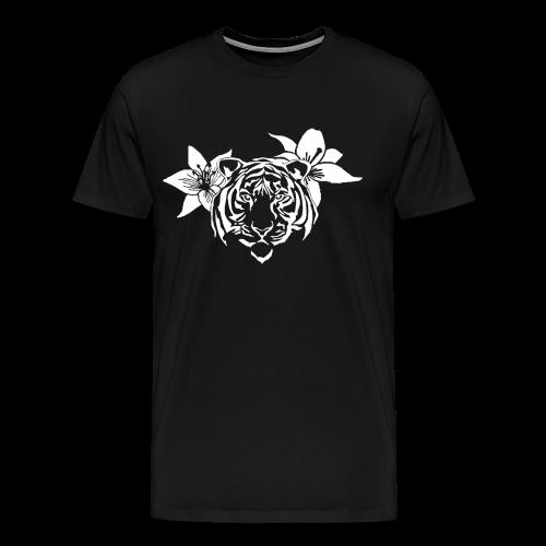 Lotus tiger T-Shirt (WHITE PRINT) - NEKLEY`s special - Men's Premium T-Shirt