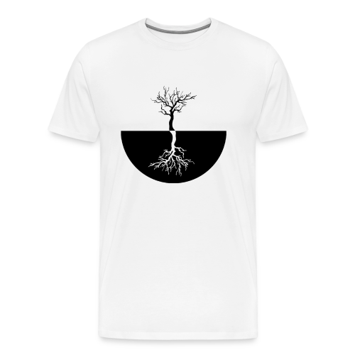 Black & White Tree T-shirt - NEKLEY`s special - Men's Premium T-Shirt