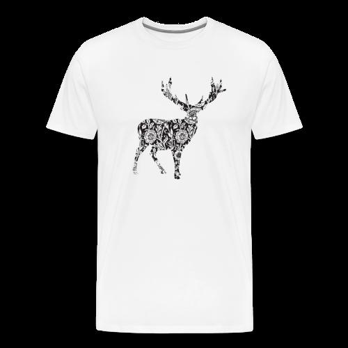 Floral deer T-Shirt - NEKLEY`s special - Men's Premium T-Shirt