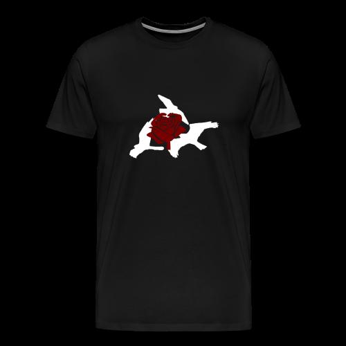 Rose birds T-Shirt (WHITE PRINT) - NEKLEY`s special - Men's Premium T-Shirt