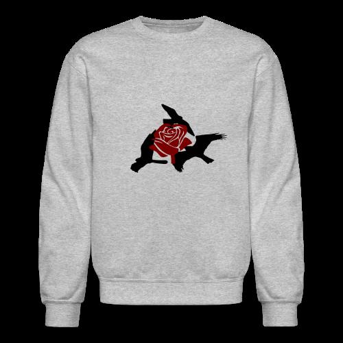 Rose birds sweater (BLACK PRINT) - NEKLEY`s special - Crewneck Sweatshirt