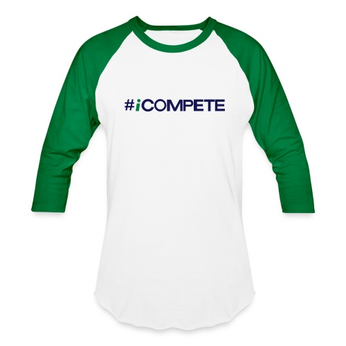 icompete_logo_final_outli - Baseball T-Shirt