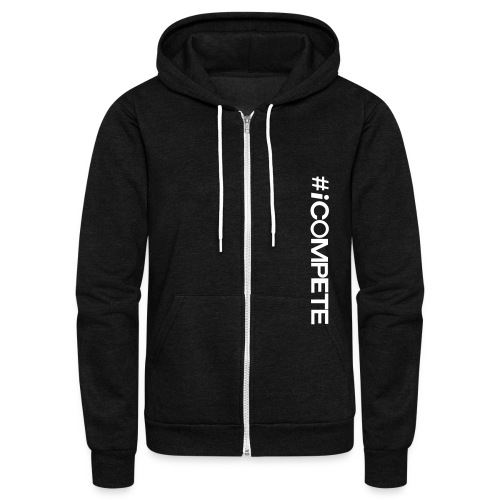 icompete_logo_final_outli - Unisex Fleece Zip Hoodie by American Apparel