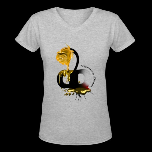 Dynasty Dimes V-Neck tee - Women's V-Neck T-Shirt