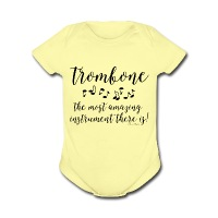 Amazing Trombone - Short Sleeve Baby Bodysuit