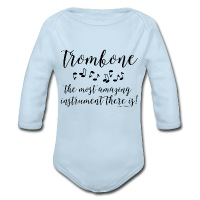 Amazing Trombone - Long Sleeve Baby Bodysuit