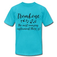 Amazing Trombone - Men's T-Shirt by American Apparel
