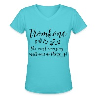 Amazing Trombone - Women's V-Neck T-Shirt