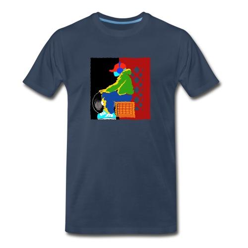 Futprnts Workshop Djcrate men's  T-shirt - Men's Premium T-Shirt