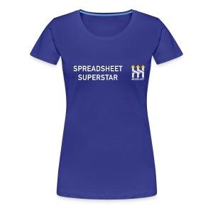 SPREADSHEET SUPERSTAR - Women's Premium T-Shirt