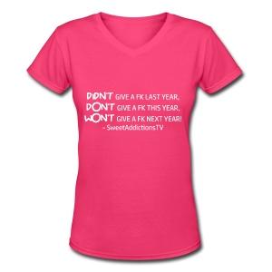 Didn't,Don't,Wont - Women's V-Neck T-Shirt