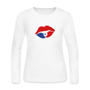 mouth lip kiss french cock Long Sleeve Shirts - Women's Long Sleeve Jersey T-Shirt