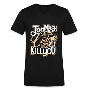 Code Kill You - Men's V-Neck T-Shirt by Canvas
