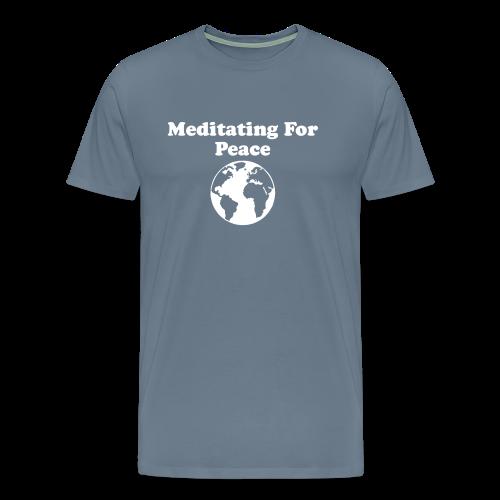 Men's Meditating For Peace, Design 2 - Men's Premium T-Shirt