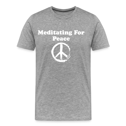 Men's Meditating For Peace, Design 1 - Men's Premium T-Shirt