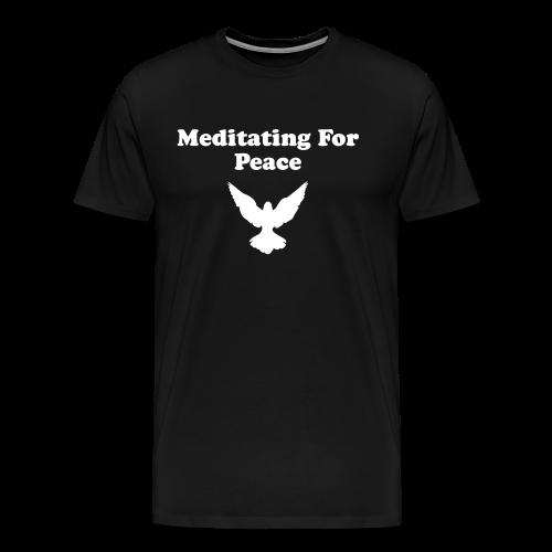 Men's Meditating For Peace T-Shirt - Men's Premium T-Shirt