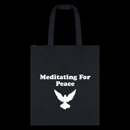 Meditating For Peace Tote Bag - Tote Bag