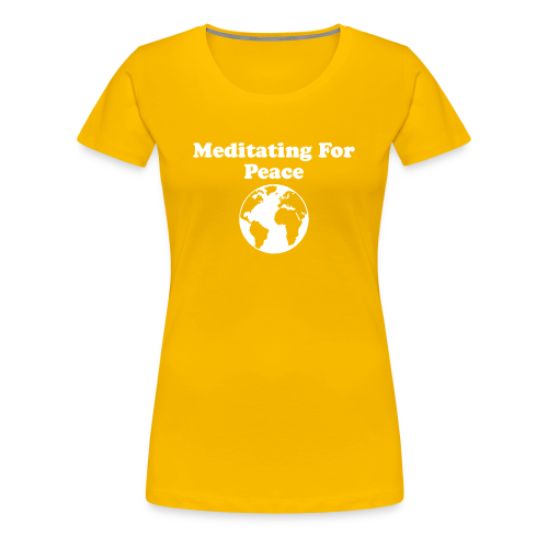 Women's Meditating For Peace, Design 2 - Women's Premium T-Shirt