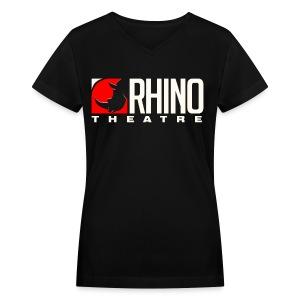 Rhino Theatre Women Style Black Tee - Women's V-Neck T-Shirt