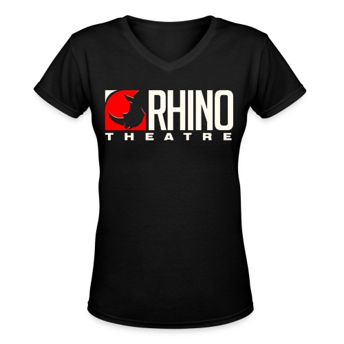 Rhino Theatre Women Style Black Tee - Women's V-Neck T-Shirt