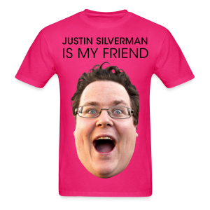Justin is My Friend Pink - Men's T-Shirt