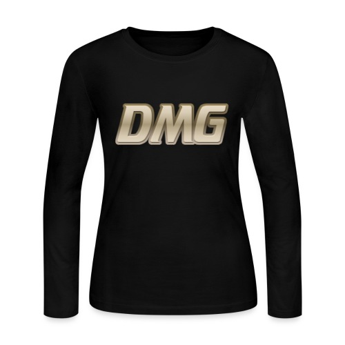 All Black Womens Long Sleeve Shirt - Women's Long Sleeve Jersey T-Shirt