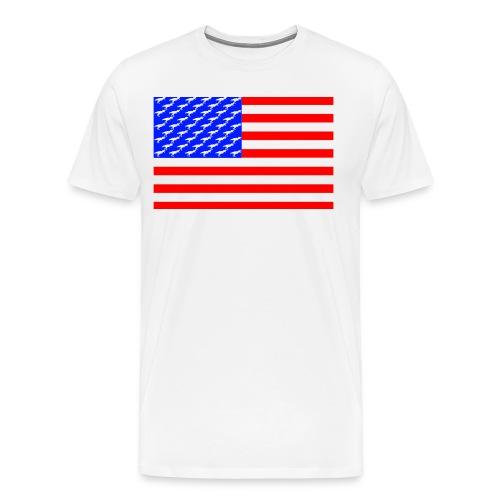 T-rex Flag - Men's Premium T-Shirt
