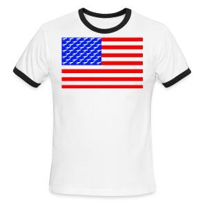 T-rex Flag - Men's Ringer T-Shirt