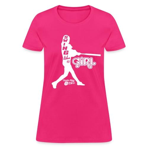Swing Like a Girl Silhouette Tee - Women's T-Shirt