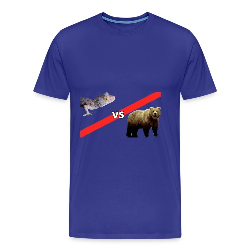 Gecko VS Bear - Mens - Men's Premium T-Shirt