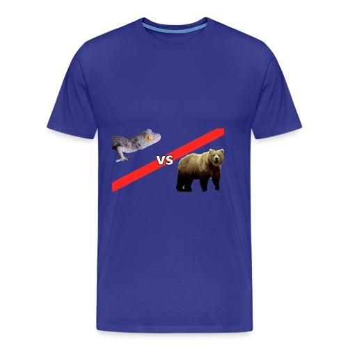 Gecko VS Bear - Mens - Men's Premium T-Shirt