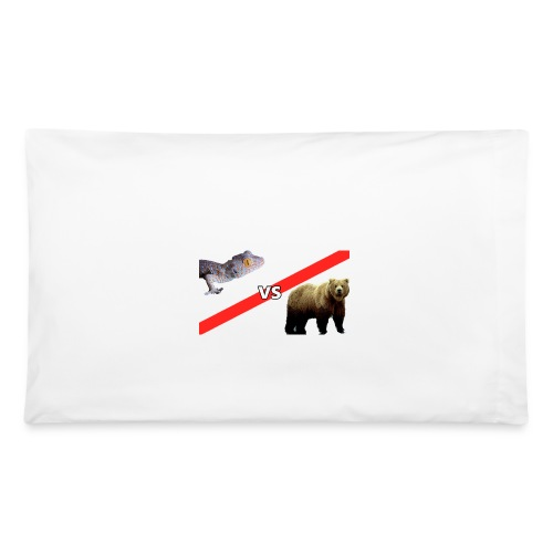 Gecko VS Bear - Pillow Case - Pillowcase