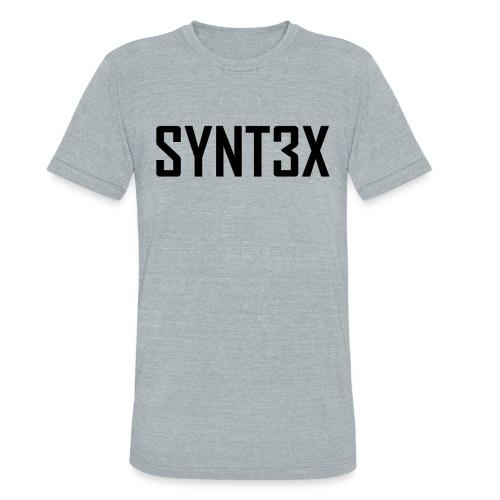 UNISEX SYNT3X BASIC T-SHIRT - Unisex Tri-Blend T-Shirt