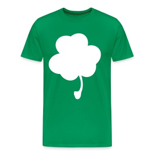 Men's Plain Clover Green Tee White Clover - Men's Premium T-Shirt